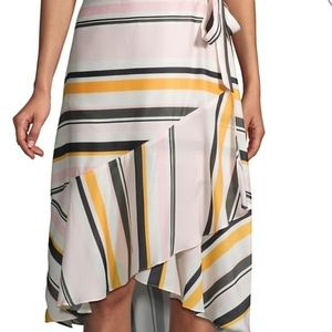 Ava & Aiden Striped High low Skirt new with tags